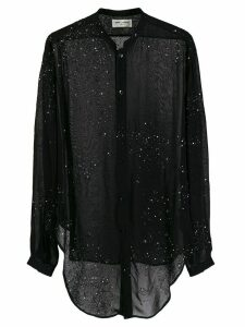 Saint Laurent Version S50H sheer blouse - Black