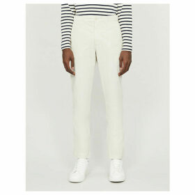 Tapered cotton trousers