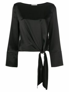 Cinq A Sept Scarlett knotted top - Black