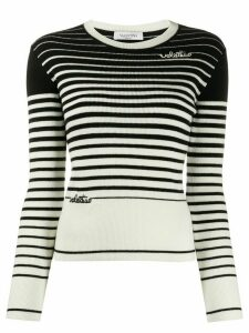 Valentino signature logo knitted jumper - Black