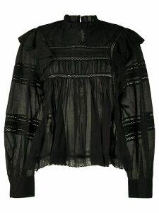 Isabel Marant Étoile Viviana sheer blouse - Black
