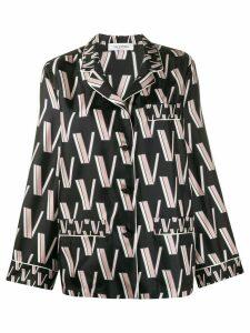 Valentino Double VLOGO pajama blouse - Black