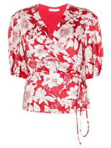 Rebecca Minkoff floral wrap blouse - Red