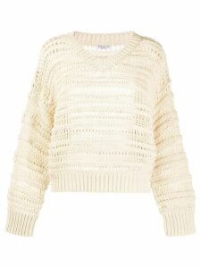 Brunello Cucinelli open knit jumper - NEUTRALS