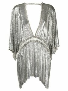Paco Rabanne embellished chainmail tunic top - SILVER
