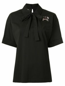 Rochas bow-embellished poplin shirt - Black