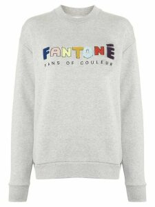 Être Cécile Fantone embroidered sweatshirt - Grey