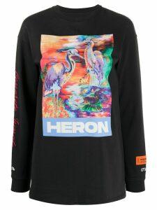 Heron Preston logo graphic print sweatshirt - Black