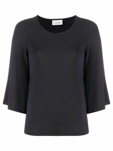 Lemaire wide cropped sleeve T-shirt - Grey