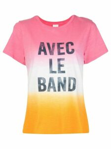 Cinq A Sept 'Avec Le Band' print T-shirt - PINK