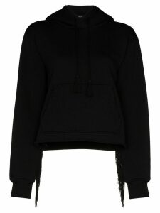 AMIRI fringed hooded sweatshirt - Black