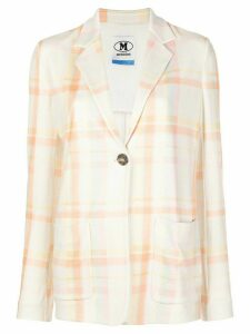 M Missoni check oversized blazer - NEUTRALS