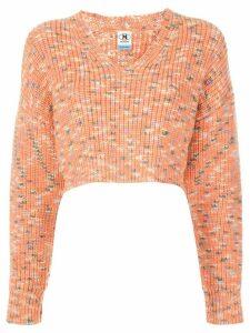 M Missoni cropped chunky knit jumper - ORANGE