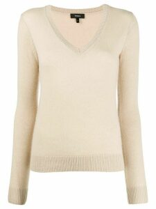 Theory v-neck cashmere jumper - NEUTRALS