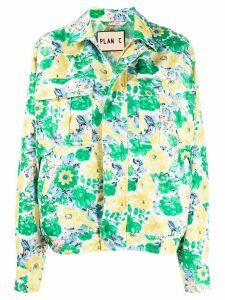 Plan C boxy shirt jacket - Green