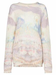 AMIRI tie-dye slouchy jumper - PURPLE