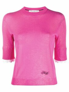 Philosophy Di Lorenzo Serafini 3/4 sleeves logo pullover - PINK