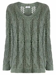 Brunello Cucinelli sequin knitted jumper - Grey
