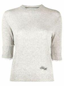Philosophy Di Lorenzo Serafini 3/4 sleeves logo pullover - Grey