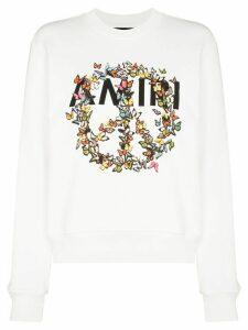 AMIRI butterfly logo print sweatshirt - White