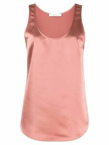 Cédric Charlier relaxed-fit satin tank top - PINK