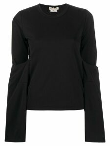 Comme Des Garçons draped long sleeve top - Black