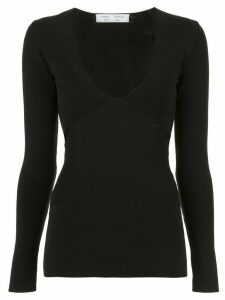 Proenza Schouler White Label cut out detail top - Black