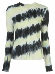Proenza Schouler White Label long-sleeved tie dye T-shirt - Black
