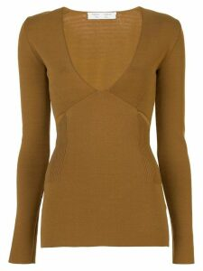Proenza Schouler White Label knitted v-neck top - Brown
