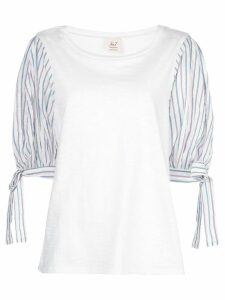 Cinq A Sept Daise striped-print blouse - White