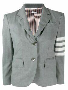 Thom Browne 4 bar engineered classic plain weave sport coat - Grey