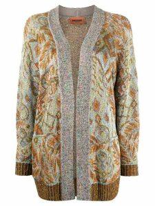 Missoni sequin embellished retro print cardigan - Brown
