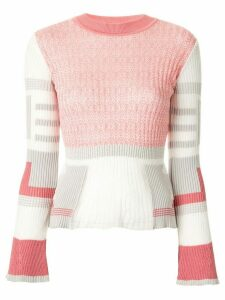 Mame Kurogouchi ribbed colour block jumper - PINK