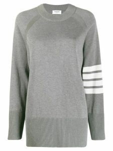 Thom Browne 4-Bar Exaggerated Raglan Sleeve Pullover - Grey