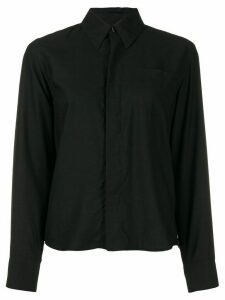 Ami Paris Woman Shirt With Chest Pocket - Black