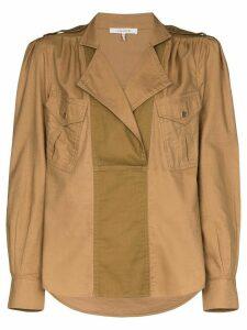 FRAME Safari draped shirt - Brown