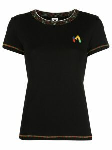 M Missoni appliqué logo T-shirt - Black