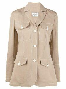 LANVIN pocketed blazer jacket - Brown