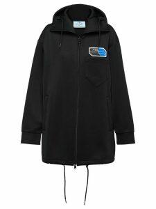 Prada technical jersey zipped cardigan - Black