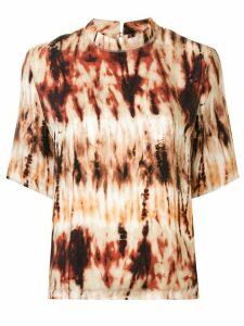 Nanushka tie dye print T-shirt - Brown