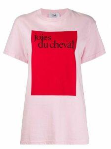 Victoria Victoria Beckham Joies Du Cheval T-shirt - PINK