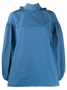 Valentino bow fastening puffed-sleeved blouse - Blue