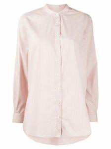Closed mandarin collar striped shirt - PINK