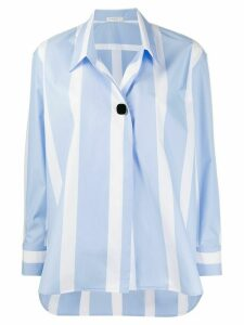 Sandro Paris oversized striped print shirt - Blue