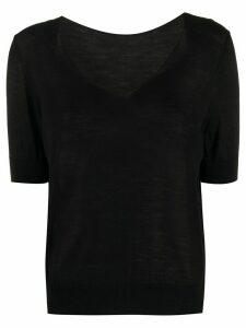 Roberto Collina short-sleeved knit top - Black