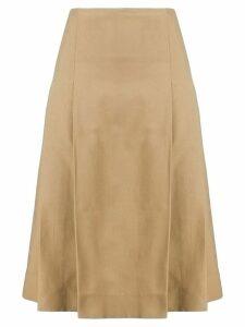 Victoria Beckham pleated A-line skirt - NEUTRALS