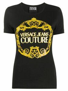 Versace Jeans Couture baroque logo-print T-shirt - Black