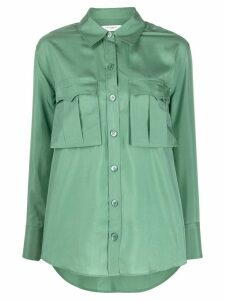 Equipment chest pocket silk shirt - Green