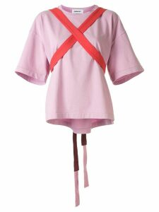 Ambush short sleeve harness strap T-shirt - PINK