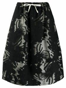 Société Anonyme high-waisted floral patterned skirt - Black